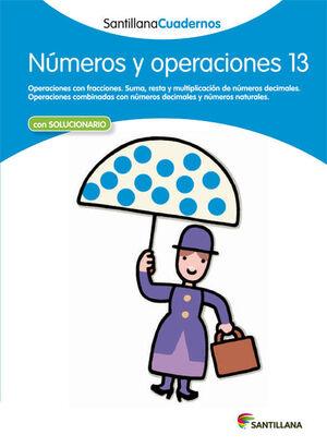 CUADERNO NÚMEROS Y OPERACIONES Nº13