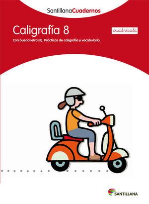 CUADERNO CALIGRAFÍA Nº8 CUADRÍCULA